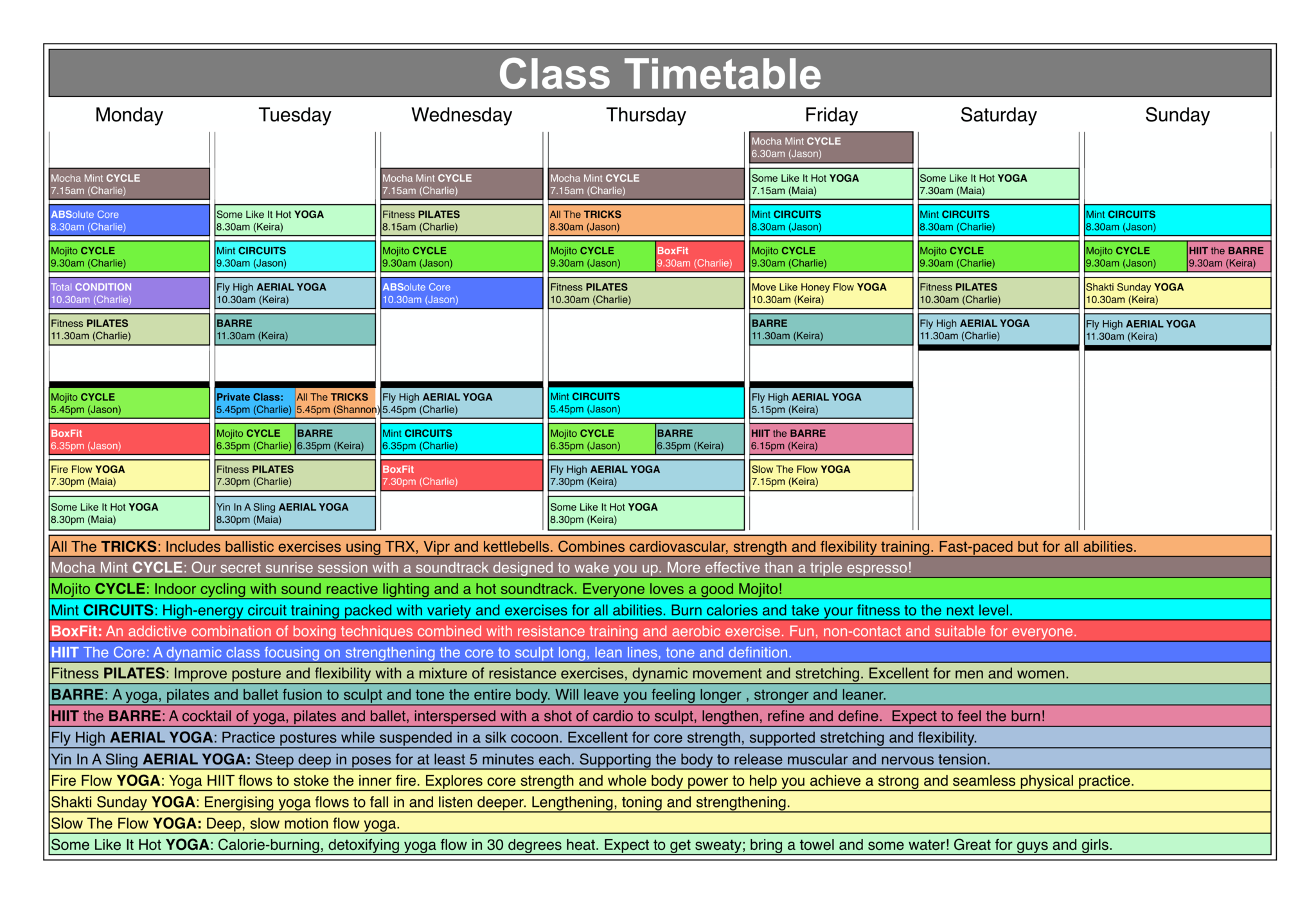 Mint Fitness Timetable-4